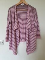 Country Casuals Striped Waterfall Cardigan Size L