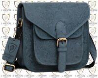 Ladies Leather Satchel Designer Shoulder Cross body bag Mens Messenger Travel