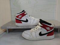Nike Air Jordan 1 Retro Mid 640734–116 Red White Black Sneakers Youth Size 11C