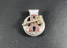 Vintage 14K White Gold Enamel Tie Tack Pin 1.4 Grams
