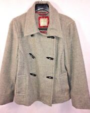 Old Navy Misses Wool Jacket Coat Short Peacoat Gray TOGGLE Buttons Size L