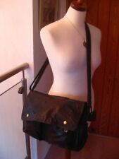 Ladies ROWALLAN CROSS BODY MESSENGER brown hand made LEATHER SATCHEL hand BAG