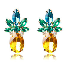 1Pair Women Faux Crystal Pineapple Earrings Fruit Stud Earrings Jewelry Gift
