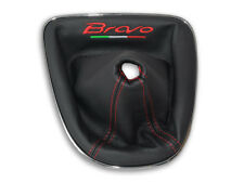 FIAT BRAVO 2 II 2007-2014 SOUFFLET LEVIER DE VITESSE BRODERIE FIL ROUGE Italia