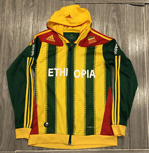 Adidas Ethiopia Full Zip Soccer Team Jersey Unisex Size L