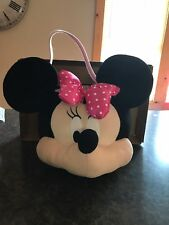 Minnie Mouse Plush Large Soft Candy Pail  Bucket Halloween New