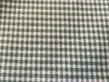 PRETTY COUNTRY CURTAINS GREEN&WHITE VALANCE 2 PC JABOT