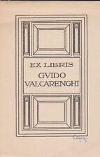 ex-libris Guido Valcarenghi signé  cisari