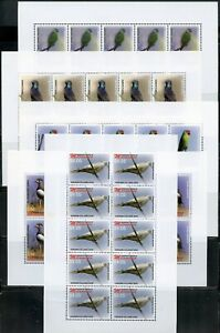 MICRONESIA BIRDS SET OF SHEETS EACH OF 10 STAMPS MINT NH