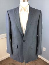 Alex By Alexandre London Suit Flat Front UK 42 R X 34 W Blue Wool