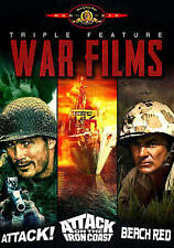 Attack/Attack on the Iron Coast/Beach Red Triple Feature New DVD Fast shipping