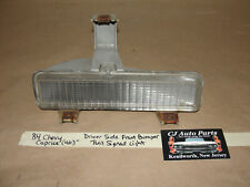 84 Chevy Caprice 4 Dr LEFT DRIVER SIDE FRONT BUMPER TURN SIGNAL PARK LIGHT LENS