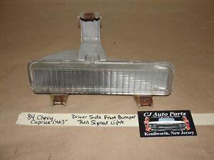 84 Chevy Caprice 4 Dr LEFT DRIVER SIDE FRONT BUMPER TURN SIGNAL PARK LIGHT LENS