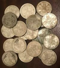 More details for collection of 21 british silver (0.500) florin/two shilling coins. 1920 to 1943.