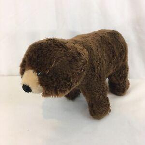 """Dakin San Francisco Vtg 12"""" Stuffed Brown Grizzly Bear"""