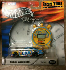 [COL] NASCAR Die-Cast Hot Wheels Record Times Racing Andretti #43 with Stopwatch