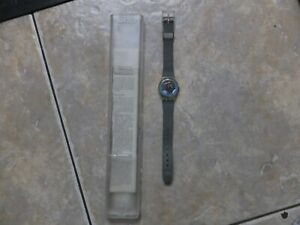 """Swatch Watch. 1987. """"Blue Bay""""  LK106. New battery fitted. Keeps Time. Excellent"""