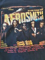 Aerosmith The Global Warming Concert Tour 2012 T Shirt Size m Medium