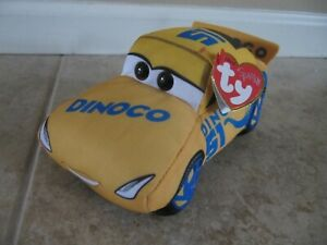"""Cruz Ramirez Ty Sparkle Disney Pixar Cars 7"""" Plush with Tag, Dinoco #51"""
