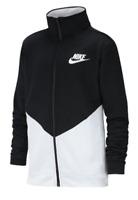 NIKE NSW Poly Tracksuit Jacket Top Junior Boys Black White 13 YRS (XLB)  *REF31