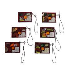 1x Simulation Sushi Key-Chain Keyring Fake Japanese Food Box Lanyard Keychain