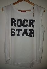 Sleeveless Esprit Women's T Shirt- 'Rock Star T-Shirt, Size L- New.