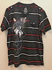 Boys Black Vertical, Swiss Cross Shirts Both Size XL 18/20