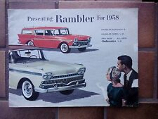ORIGINAL 1958 RAMBLER CAR SALES BROCHURE