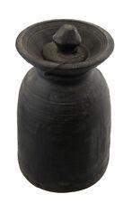 Antique Pot à beurre lait Ghee Tsampa teki 26cm bois tourné Himalaya Nepal 26773