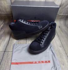 Prada 4T2998 Alta Botas Zapatos Zapatillas de cremallera superior entrenadores BN Original £ 490 10uk -44