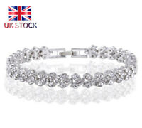 Women Ladies Bracelet 925 Sterling Silver Jewellery Classic Solid Bangle Gift