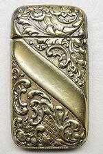 Antique Art Nouveau Gold plated Match Safe - Vesta Case circa-1900