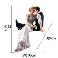 Bride Groom Couple Wedding Cake Topper Love Favors Resin Figurine Decoration KP