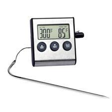 Цифровой термометр для духовки кухня еда приготовления мяса барбекю зонд с таймером