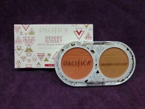 NIP Pacifica Desert Sunset Matte Blush and Bronzer Combo Compact w/Mirror