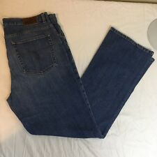 LRL Ralph Lauren Womens Denim Jeans Sz 12 35 x 31 Blue Cotton Blend Free Ship!
