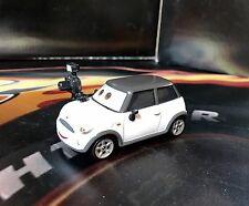 Disney Cars 2 Unreleased Diecast!! White Mini Cooper Reporter With Camera
