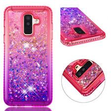 Samsung Galaxy S8 S9 Note 9 New Sparkle Diamond Bling Glitter Liquid Case Cover