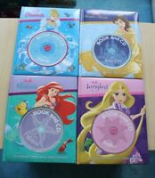 4xDisney Book and CD: Tangled,Cinderella,Beauty and the Beast,The little mermaid