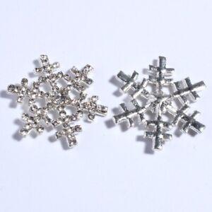20PCS 29MM Newborn Silver Plating Crystal Alloy Button For Wedding Invitation Rh