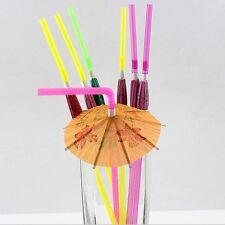 20pcs Lovely Umbrella Cocktail Drinking Straws Home Birthday Wedding Party Tools