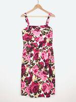 Lafayette 148 New York 8 Dress Loire Floral Pink Sleeveless Sheath Dress $398