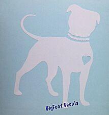 Pit Bull Decal Dog Hearts Pet Rescue Car Truck SUV Wall Vinyl Window Sticker