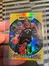 2019-20 Panini NBA Hoops High Voltage FOIL Kawhi Leonard #1