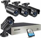 ZOSI 1080P Security Camera System with 1TB Hard Drive H.265+ 8CH 5MP Lite HD-TVI