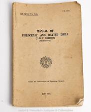 1943 IRISH ARMY Manual of Fieldcraft and Battle Drill, Ireland Military History