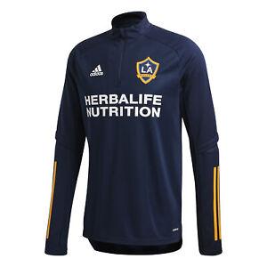Adidas Men's LA Galaxy Quarter Zip Training Top, Navy / Gold