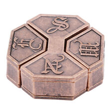 Vintage Box Lock Puzzle  Metal Alloy Brain Teaser IQ Test Toy for Adults Kids LT