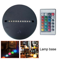 LED Night Light Lamp Base USB Charging Cable Remote Control Acrylic Plate For Ho
