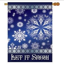 Let It Snow Dream Decorative Garden Mini Flag - 2-Sided - Winter / Christmas